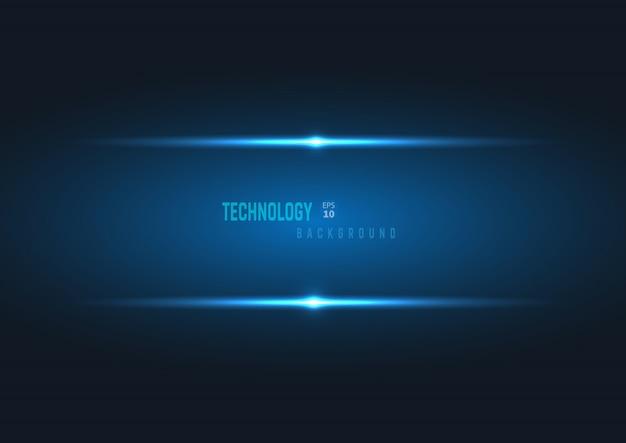 テンプレート抽象的な技術スタイルブルー光沢のある色黒フレームレイアウトモダンなハイテクデザインの背景