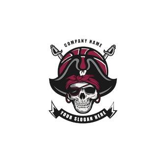 Череп баскетбольный логотип