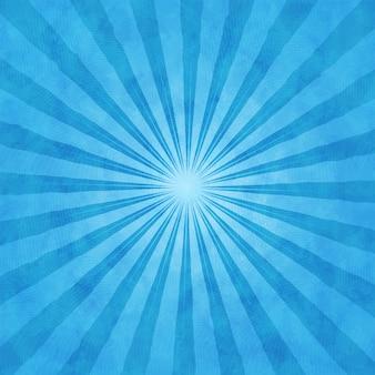光線と青い水彩画の背景