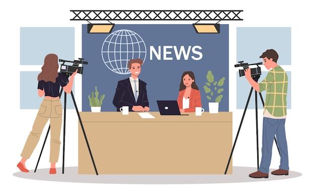 Пара новостных якорей