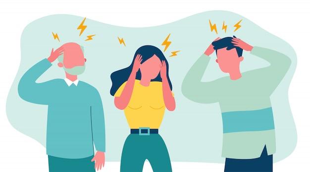Стресс людей, страдающих от головной боли