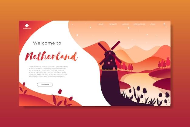 Добро пожаловать в шаблон целевой страницы голландии