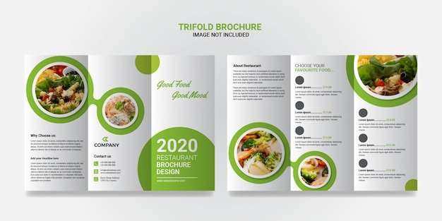 Шаблон брошюры «еда и ресторан»