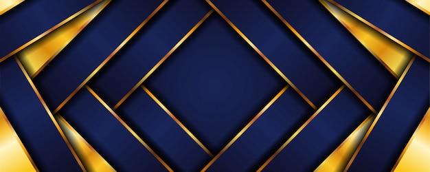 金色の要素の装飾と重複する層と抽象的な高級デザインの背景