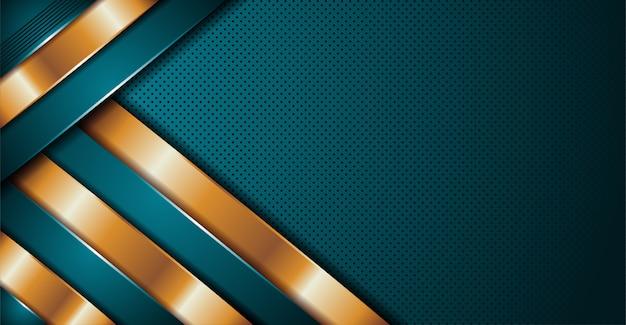 オーバーラップレイヤーバナーの背景を持つテクスチャーを抽象的なモダンな高級ブルー