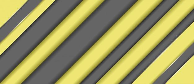抽象的な青黄色の幾何学的形状のバナーの背景