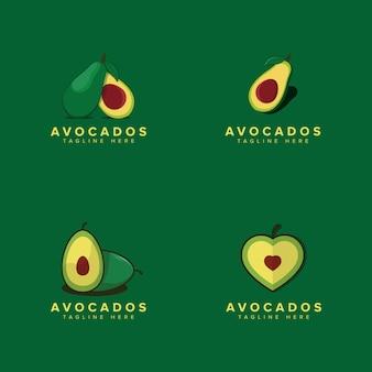 Авокадо фруктовый логотип шаблон