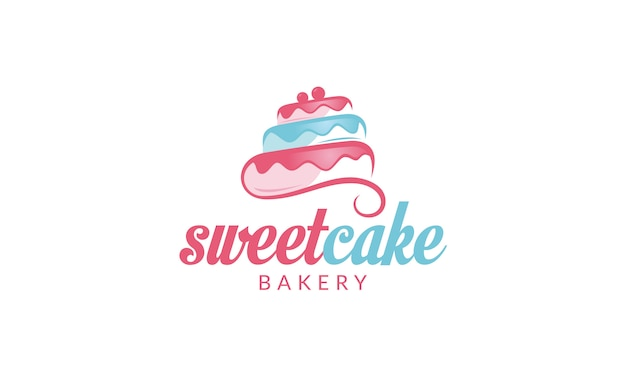 Кекс логотип сладкий торт логотип торт магазин логотип торт пекарня логотип векторный логотип шаблон