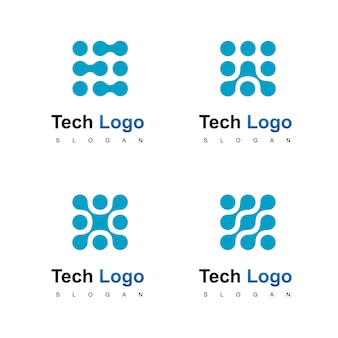 テクノロジーロゴデザインベクター