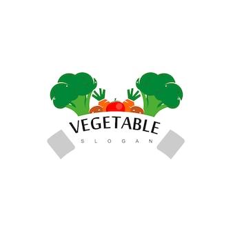 Логотип овощей, дизайн веганских этикеток