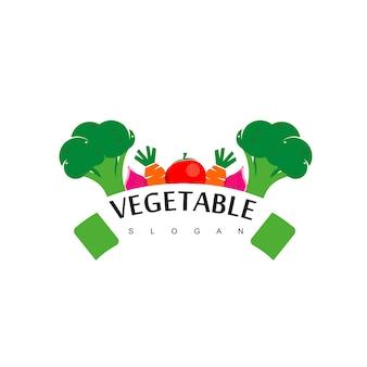 Вектор дизайна логотипа для овощей