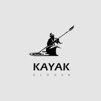 ウォータースポーツ、カヤックのロゴデザインのインスピレーション