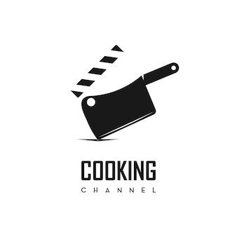 ベクトル料理チャンネルのロゴ