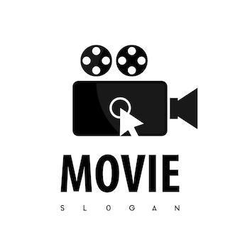 映画のロゴのベクトルをクリックします