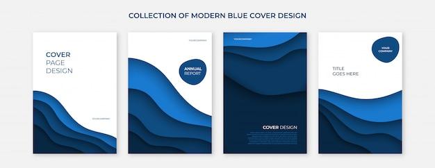 Современная синяя обложка со стрижкой