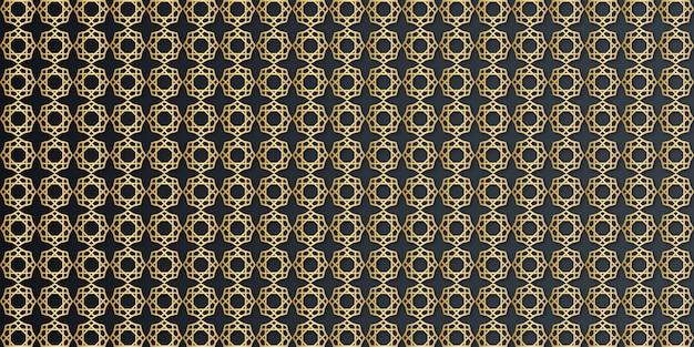 Роскошный золотой геометрический арабески бесшовные модели