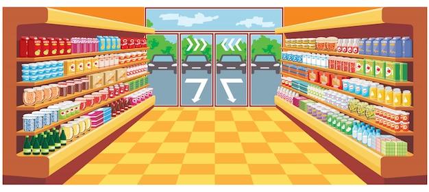 スーパーマーケット。