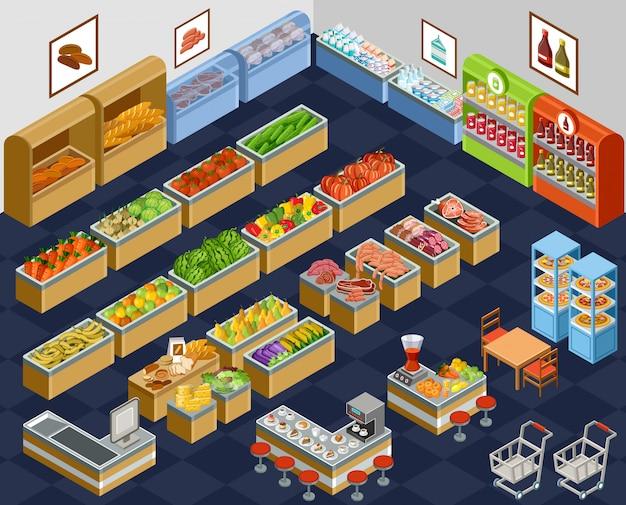 Изометрические супермаркет
