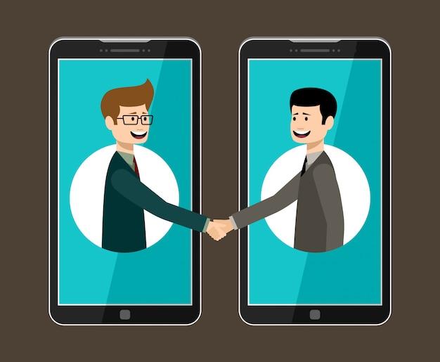 Рабочая концепция интернет. интернет бизнес. партнерство