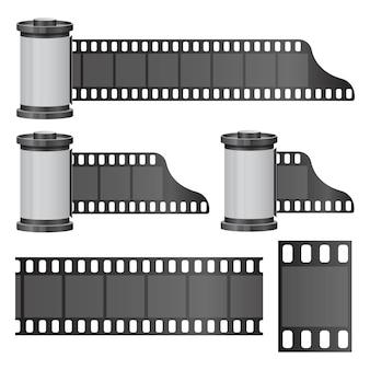 白で隔離カメラフィルムロールイラスト