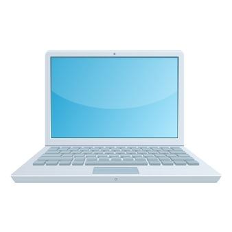 Иллюстрация ноутбук, изолированные на белом