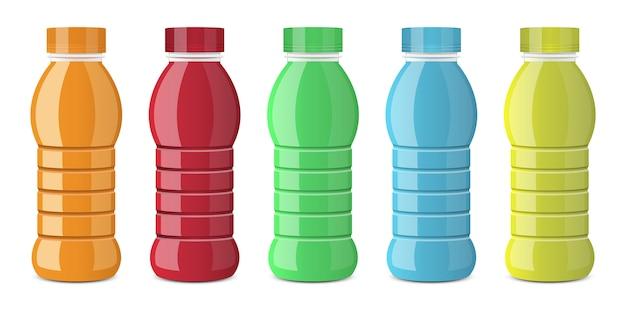 白で隔離ジュースボトルベクターデザインイラスト