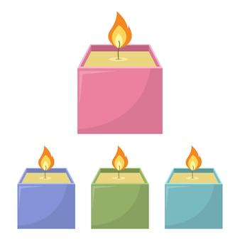 Свеча иллюстрации на белом фоне
