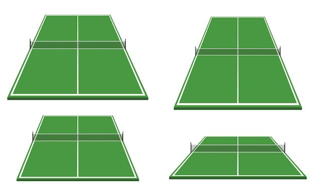 Иллюстрация стола для пинг-понга на белом фоне