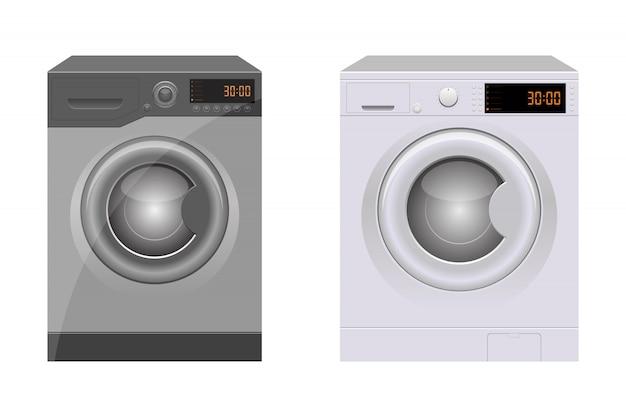 Иллюстрация стиральной машины на белом фоне