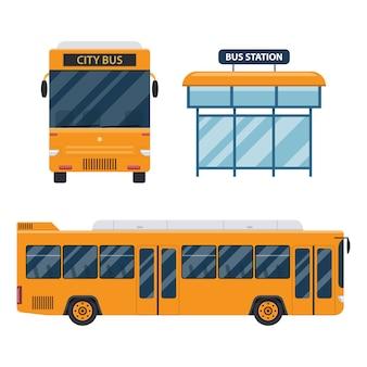 白で隔離市バスの図