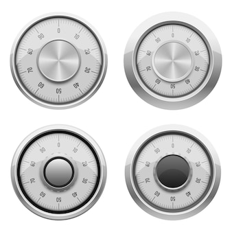 白で隔離される安全な組み合わせロック図