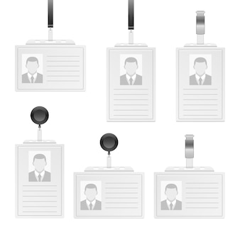 Иллюстрация удостоверения личности, изолированные на белом