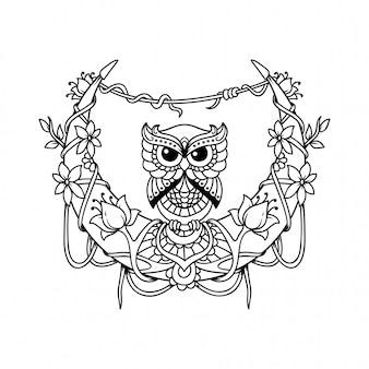 Полумесяц с изображением файла с совой