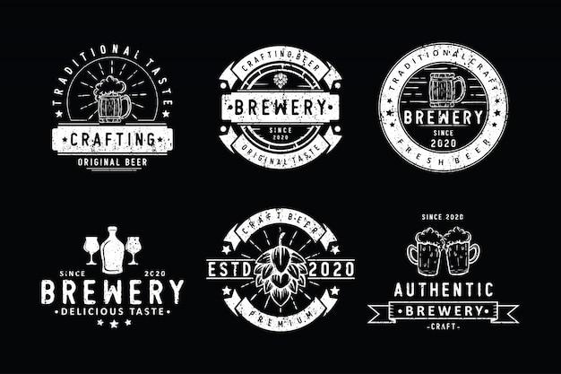 Набор старинных значков пивоварни