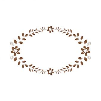 花のモノグラム紙のカットファイル
