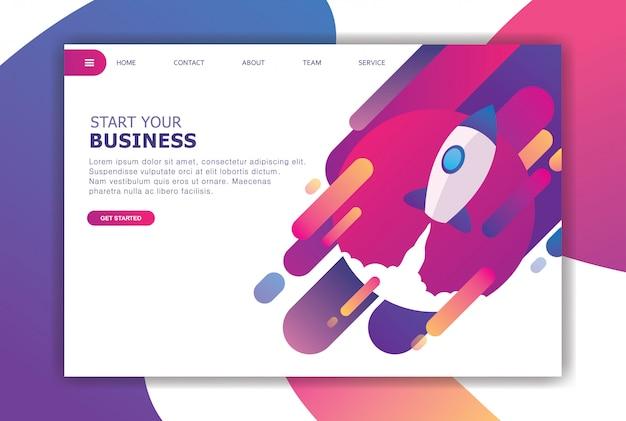 Современная плоская дизайнерская концепция бизнеса