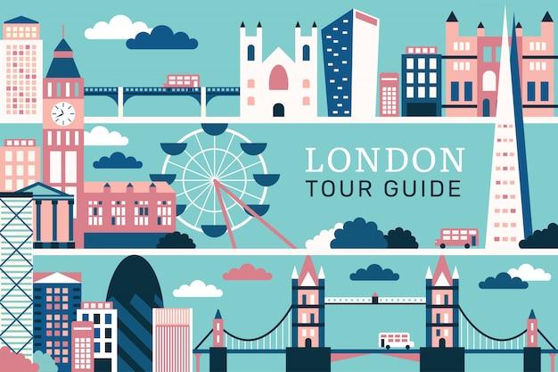 Векторная иллюстрация красивой лондона