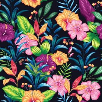 Красивые старинные цветочные бесшовные