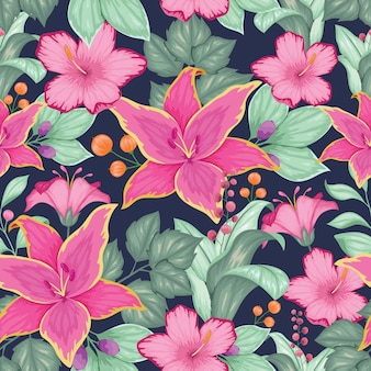 美しいビンテージ花柄シームレス