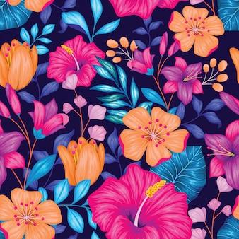 美しいビンテージシームレスな花柄
