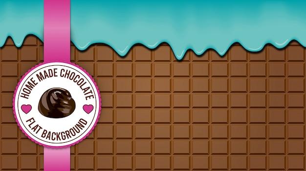 ブラウンチョコレートブロックの背景