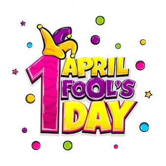 День комиксов в апреле в стиле поп-арт, изолированный в белом