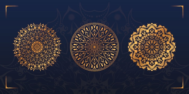 Роскошный набор дизайна мандалы