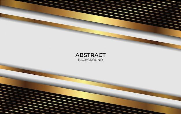 Презентация фона роскошного золотого дизайна