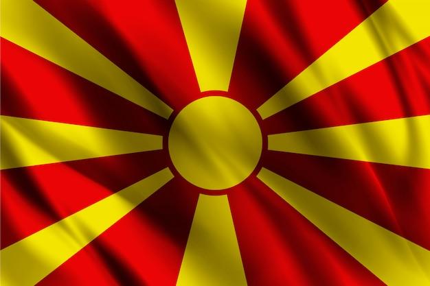 マケドニアの旗の抽象的な背景を振って