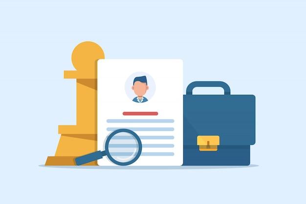 Кадровые ресурсы, концепция подбора персонала для веб-страницы, найм сотрудников, кадровое агентство