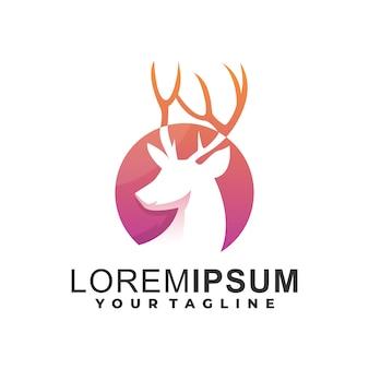 鹿の頭のグラデーションロゴ