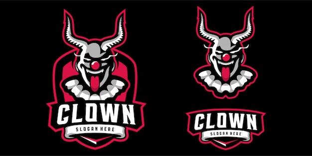 Логотип талисмана клоуна