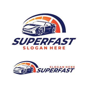 Логотип гоночного автомобиля