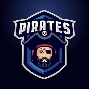 海賊マスコットロゴ